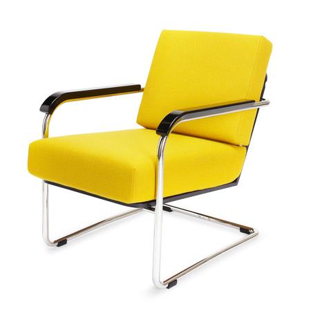 Moser fauteuil textil gelb