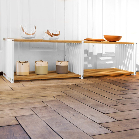 breites 39 rebar 39 eichen regal. Black Bedroom Furniture Sets. Home Design Ideas