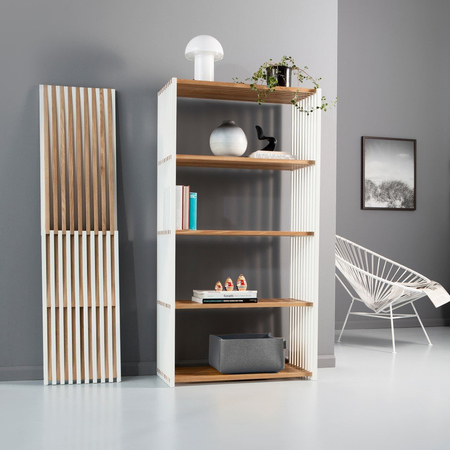 schmales 39 rebar 39 eichen regal. Black Bedroom Furniture Sets. Home Design Ideas