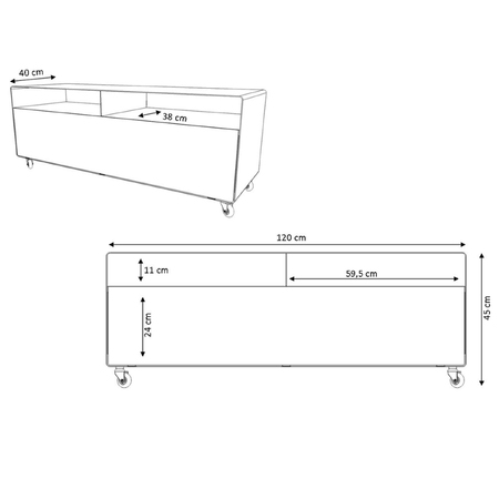 R109N Sideboard mit Türen
