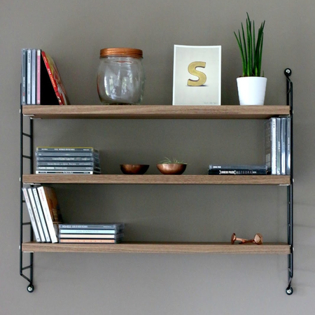 wandregal 39 string pocket 39 mit holz. Black Bedroom Furniture Sets. Home Design Ideas