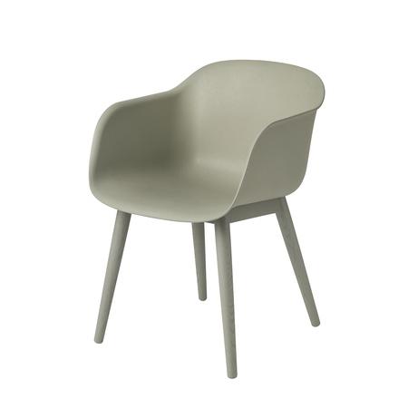 Fiber chair woodbase dusty 20green