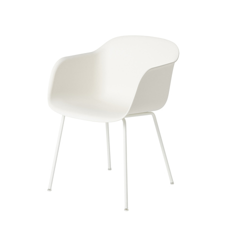 Fiber chair tubebase natural white wh