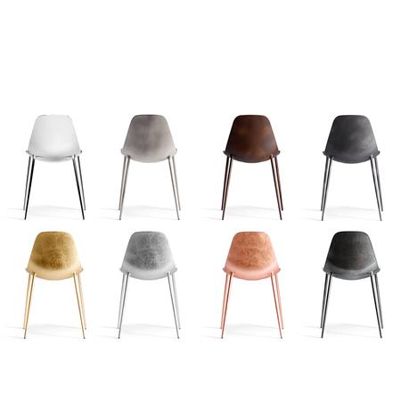 Stuhl ohne Armlehne 'Mammamia' 01