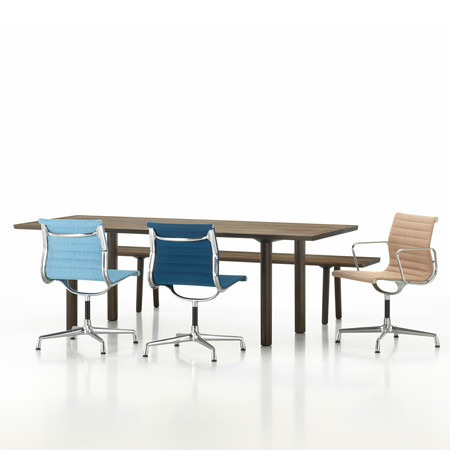 Vitra wood table bench aluminium group ea104