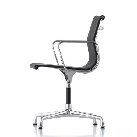 Vitra aluminium chair ea 104 nero seite