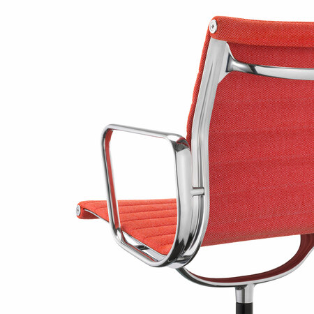 Vitra aluminium chair ea 104 poppy red elfenbein