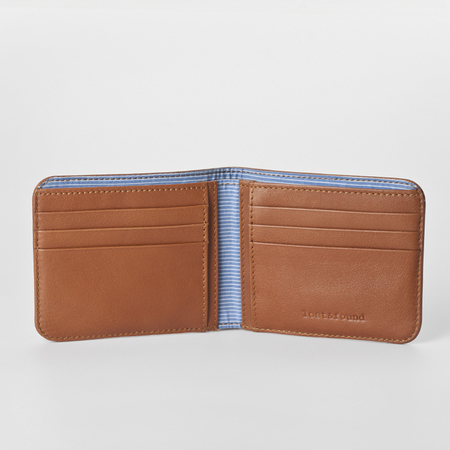 3 men wallet caramel open