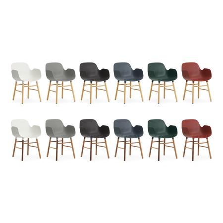 6027 form armchair wood all 1