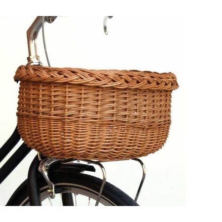 Abici fahrrad frontkorb mit gepacktrager oval wicker