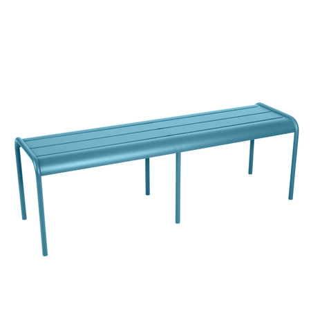 Luxembourg banc 20sans 20dossier 203 4 20places turquoise
