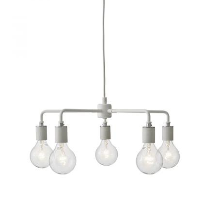 Menu leonard chandelier pendelleuchte wei  1