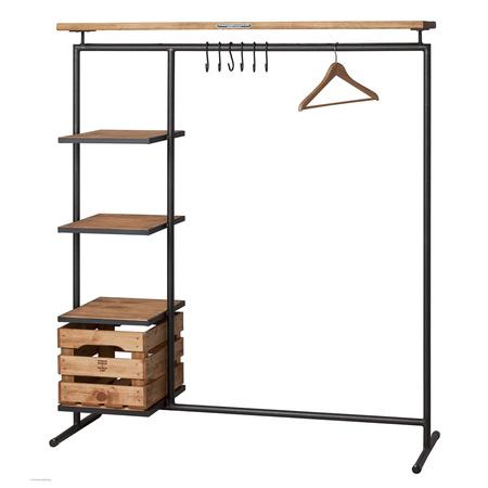 kleiderst nder 39 wood 3 39 mit ablage. Black Bedroom Furniture Sets. Home Design Ideas