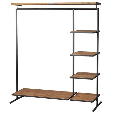 kleiderst nder 39 wood 39 mit grosser ablage. Black Bedroom Furniture Sets. Home Design Ideas