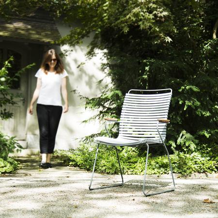 'Click' Stuhl mit hoher Lehne