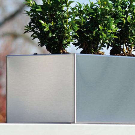 blumenkasten aus edelstahl. Black Bedroom Furniture Sets. Home Design Ideas