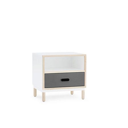 601054 kabino bedside table grey 2