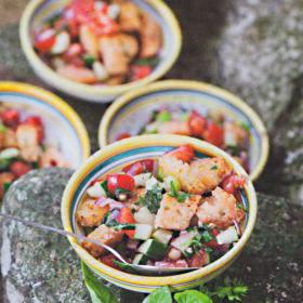 Rezept toskanischer brotsalat kochbuch gemuese all italiana schinharl at buchgourmet 280x340