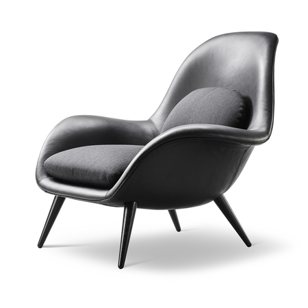Swoon leather easy chair fredericia furniture 233765 relc90acd97