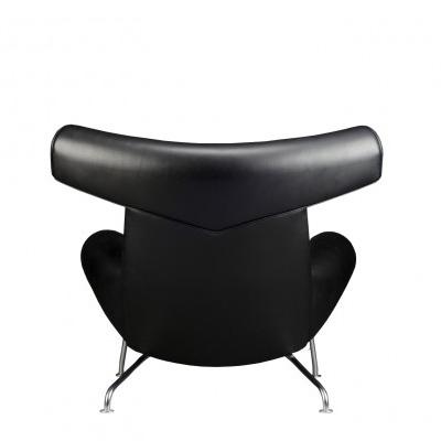 Vintage ej 100 ox chair and ottoman by hans j wegner for erik jorgensen 06