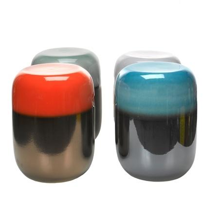 keramik hocker in orange bronze. Black Bedroom Furniture Sets. Home Design Ideas