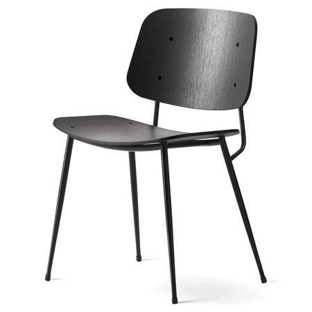 Fredericia soborg stuhl eiche  schwarzmetallbeine schwarz freisteller