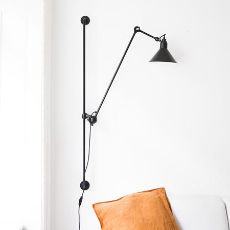 wandleuchte 39 lampe gras 214 39 schwarz. Black Bedroom Furniture Sets. Home Design Ideas