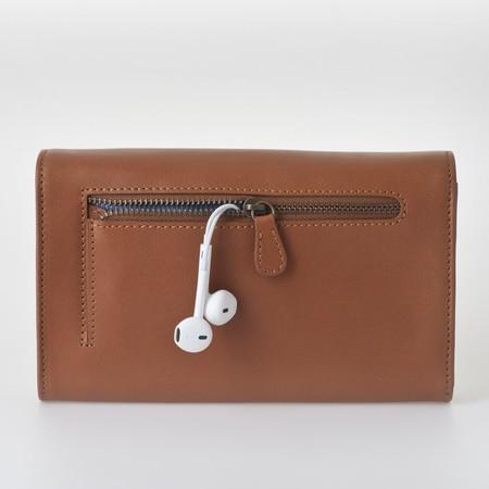 3 smartphone bag caramel back