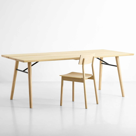 Woud split dining table eiche geseift hintergrund