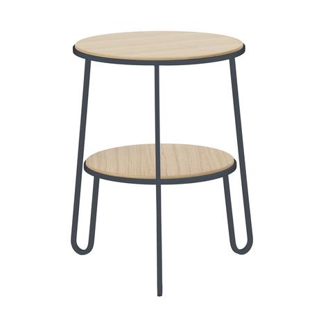 kleiner beistelltisch mit zwei ablagefl chen. Black Bedroom Furniture Sets. Home Design Ideas