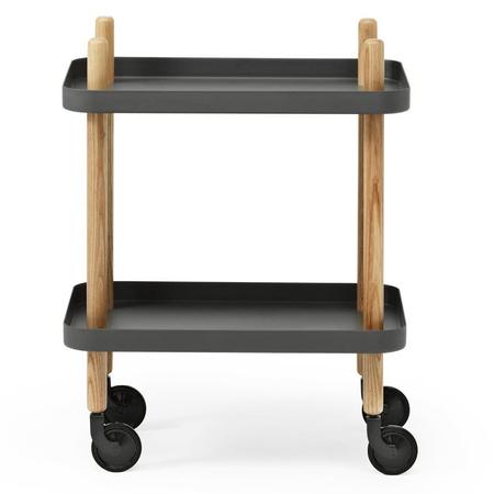 Normann copenhagen servierwagen block table dunkelgrau    4738 0
