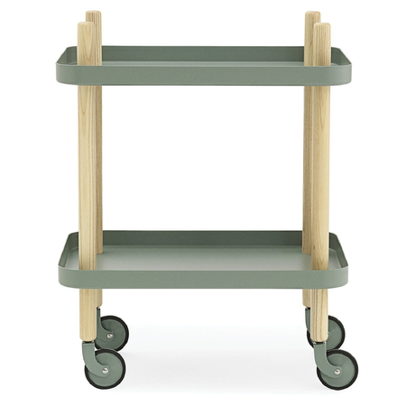 Normann copenhagen servierwagen block table dusty green    7139 0