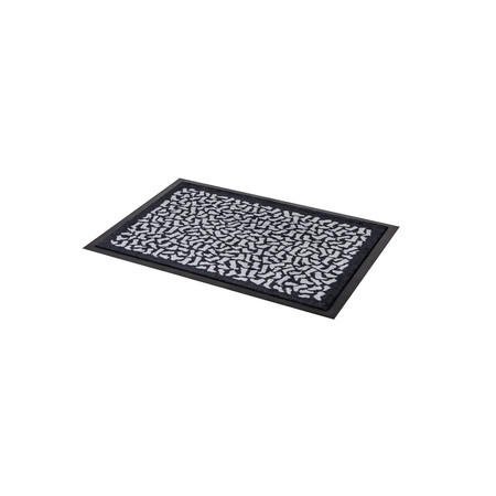 Tica copenhagen fussmatte laeufer footwear 60 x 90 cm schwarz grau