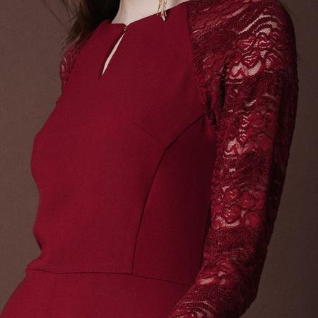 Frauenbekleidung kleider baumwolle rot celine rubyred 3