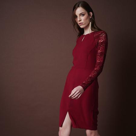 Frauenbekleidung kleider baumwolle rot celine rubyred 1