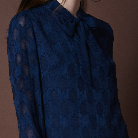 Frauenbekleidung kleider viskose blau florence bluelace 2