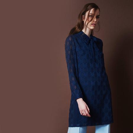 Frauenbekleidung kleider viskose blau florence bluelace 1