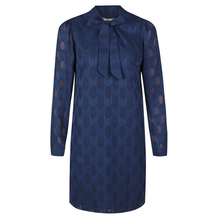 Frauenbekleidung kleider viskose blau florence bluelace 3