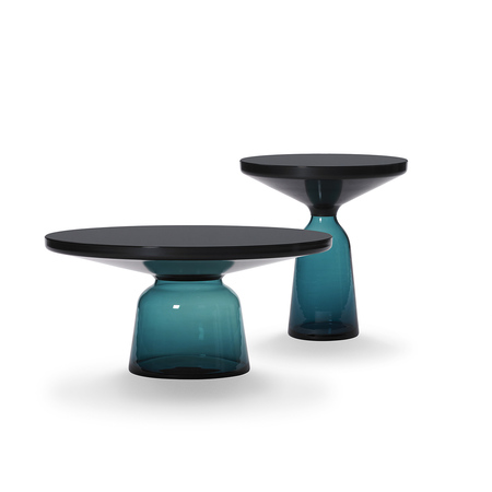 Bell coffee table black blue bell side table black blue