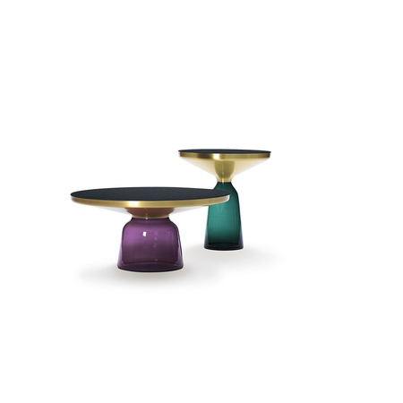 Bell coffee table violet bell side table green
