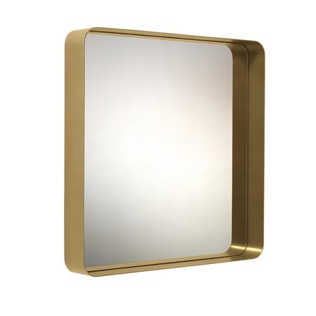 Cypris mirror brass 70x70