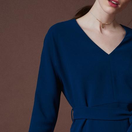 Frauenbekleidung kleider viskose blau liz petrol 3