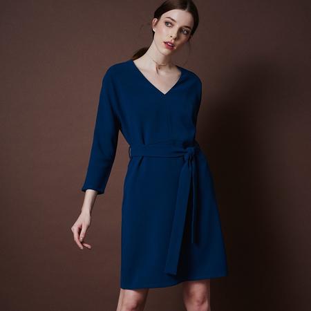 Frauenbekleidung kleider viskose blau liz petrol 1