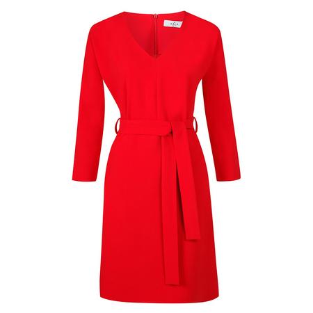 Frauenbekleidung kleider viskose rot liz cherryred 3