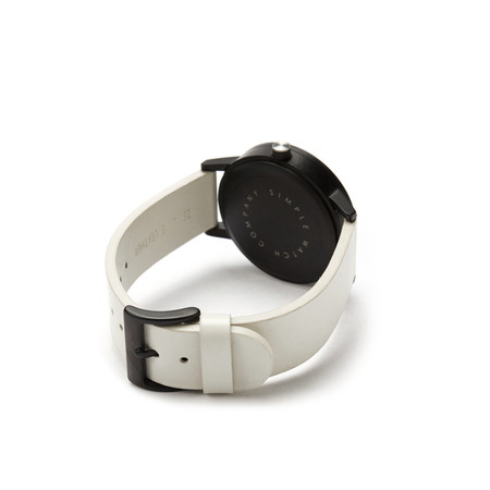 Simple watch co earl timepiece white black white side