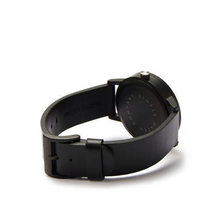 Simple watch co earl timepiece black white side