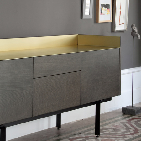 Punt stockholm sideboard oak darkgrey gold 3 2