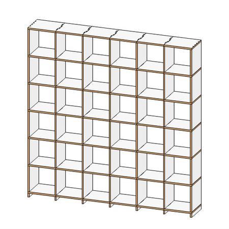 hohes regal von 39 mocoba 39. Black Bedroom Furniture Sets. Home Design Ideas