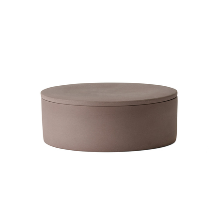 Menu  cylindrical container taupe violett freisteller