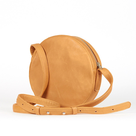 Baggu circle purse saddle 0002